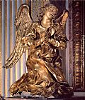 Gian Lorenzo Bernini Canvas Paintings - Altar of the Cappella del Sacramento [detail]